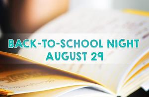 Complete Back-to-School Night Schedule