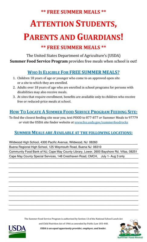 Free Summer Meals Thumbnail Image