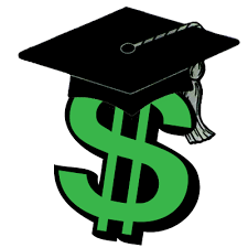 clip art of dollar sign with graduation cap