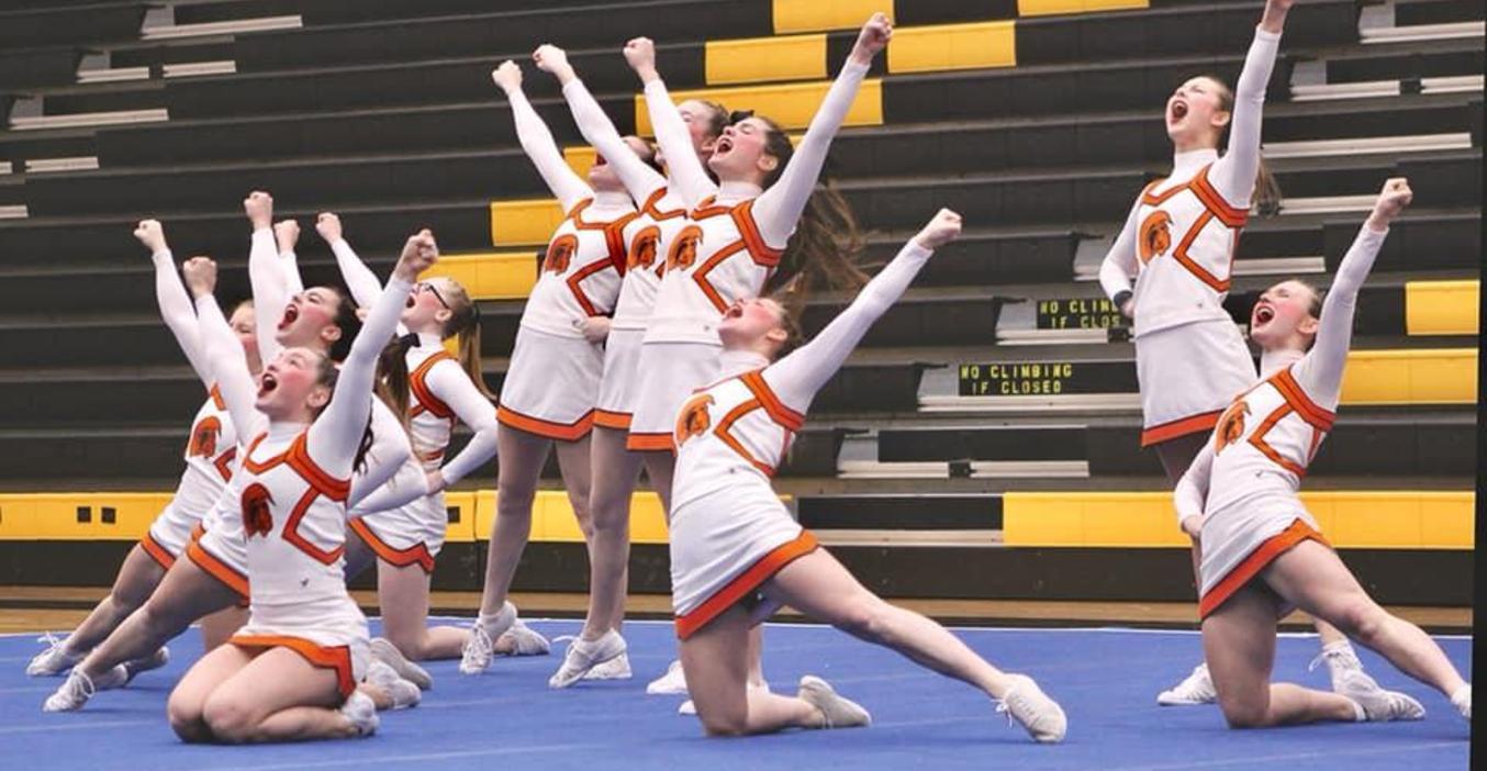 TKHS Cheer Team  members enjoy competition.