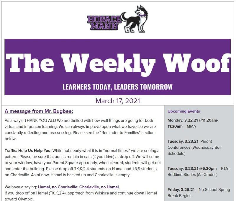 The Weekly Woof for March 17, 2021