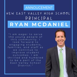 New EVHS Principal Announced