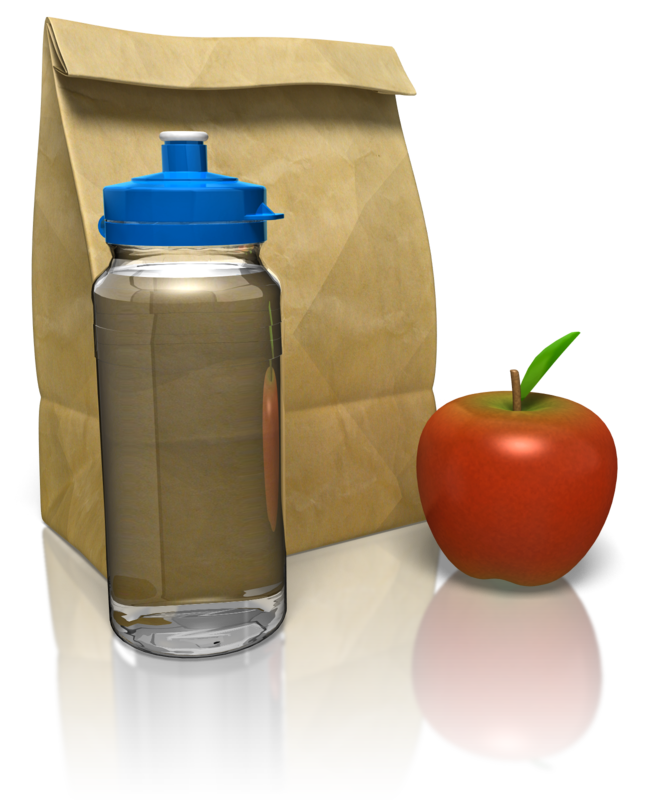 bagged lunch with apple