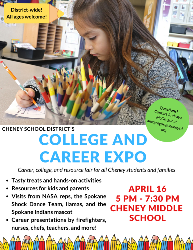 Come to the College & Career Expo On April 16th! Thumbnail Image