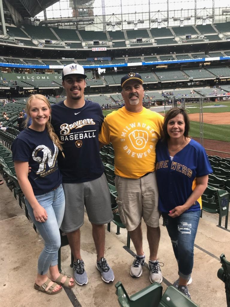Watching the Brewers at Miller Park