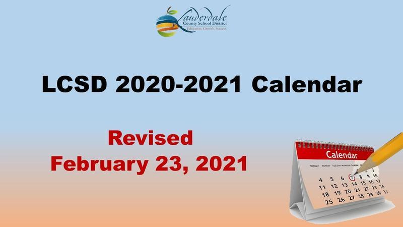 LCSD Revised Calendar Graphic