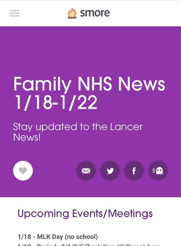 NHS Family Newsletter Featured Photo