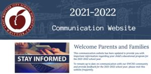 Screenshot of the 2021-2022 Communication Website