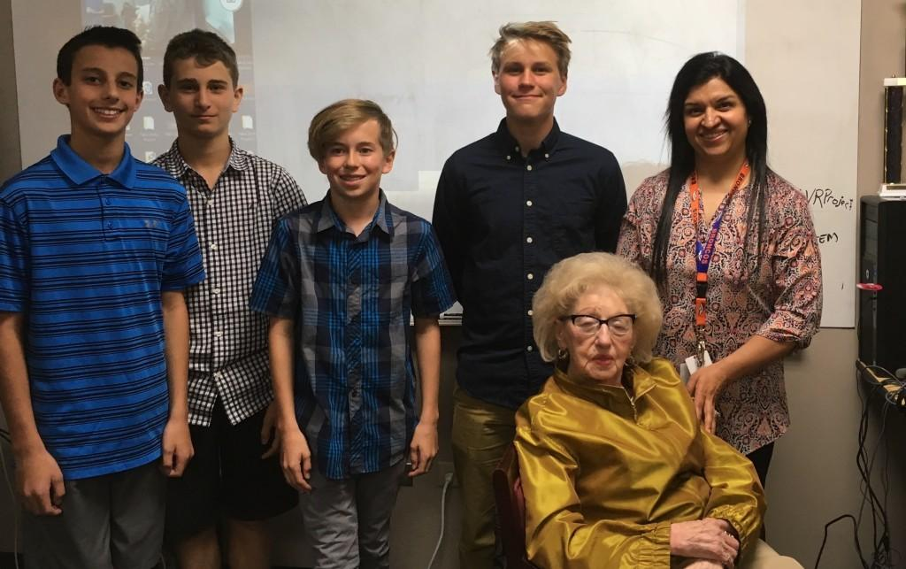 Meeting with Holocaust survivor Fanny Starr