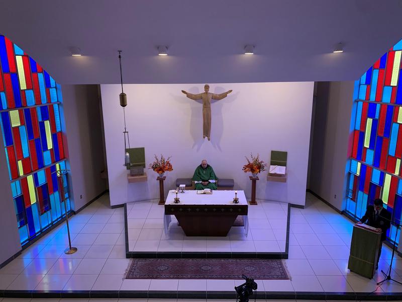 Father Bedard at Mass October 2020