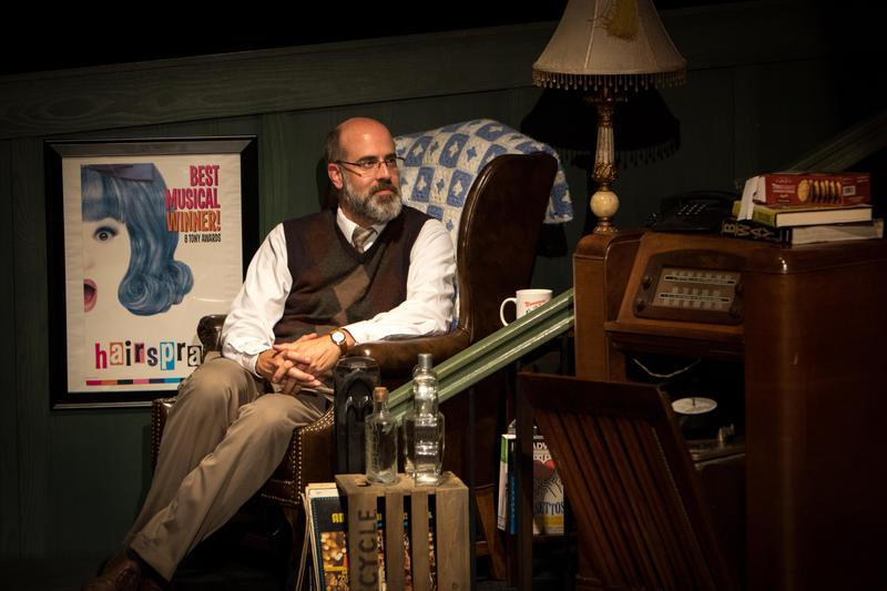 photo of Mike Cerchiaro '96 playing Man in Chair in The Drowsy Chaperone at OLSH
