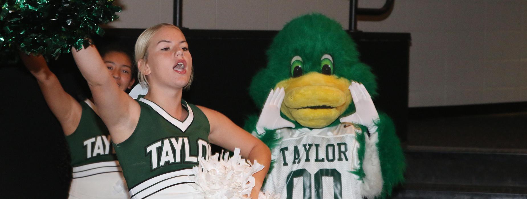 Cheerleader and Mascot