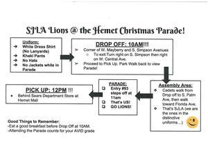 Hemet Xmas Parade Info