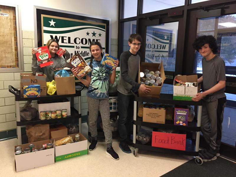 NSMS Student Council Food Drive Featured Photo