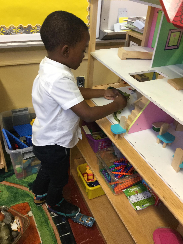 student exploring