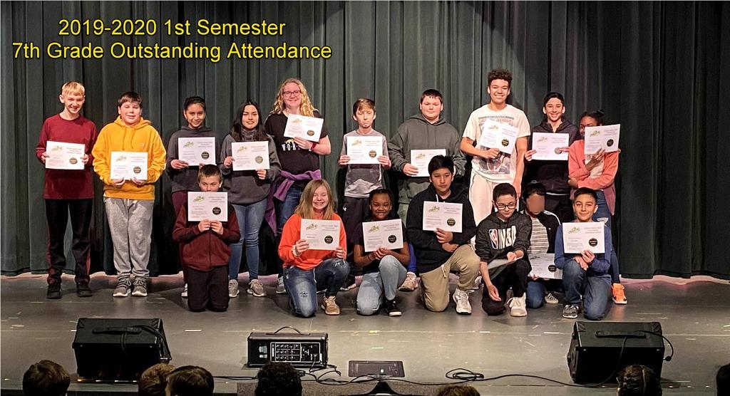 7th Grade Outstanding Attendance