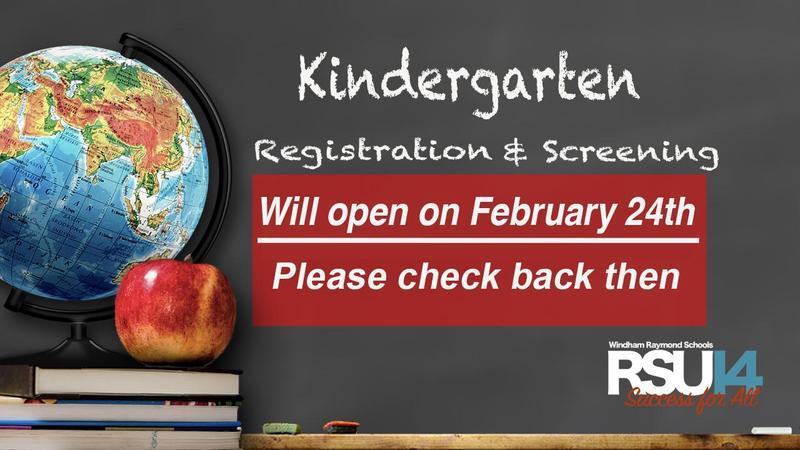 Kindergarten Registration Opens