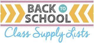 2019-2020 School Supply List