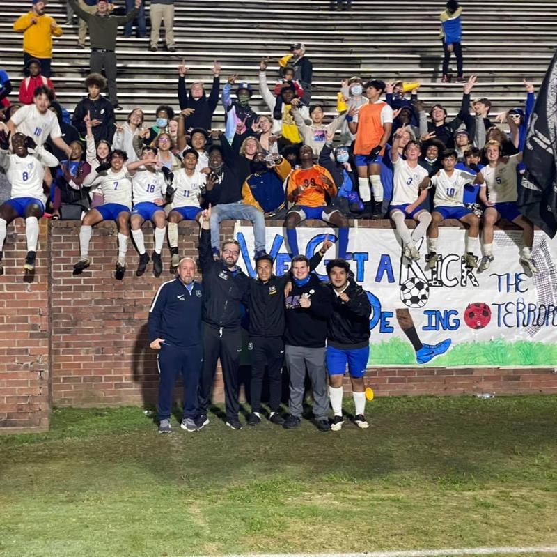 Members of the 2021 Brunswick High boys' soccer team.