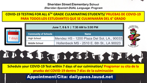 Sheridan COVID-19 Testing Announcement for 6th Graders 06-01-2021.png
