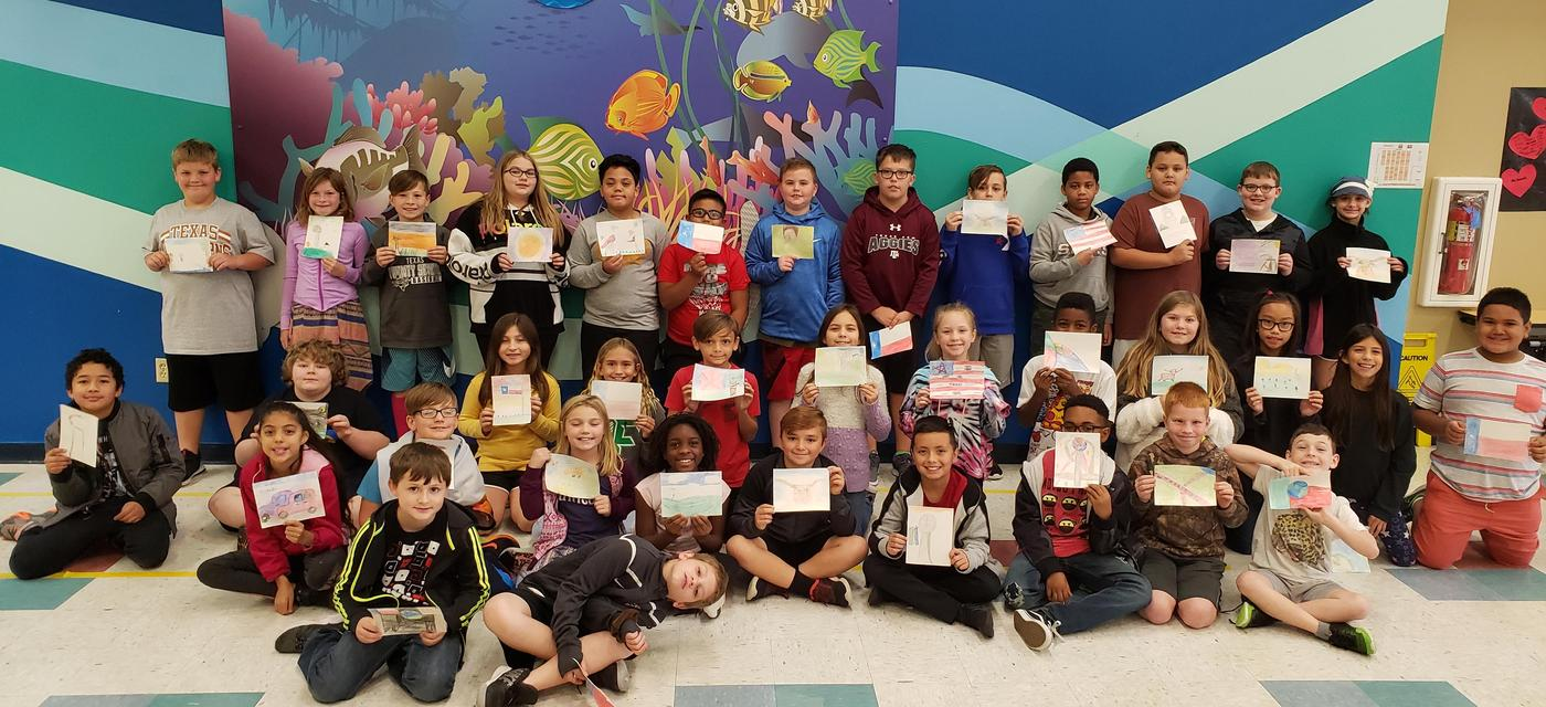 students display artwork done with Go van Gogh program