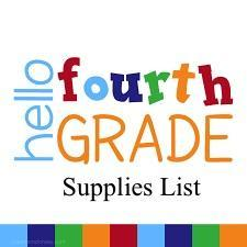 4th Grade Supplies list