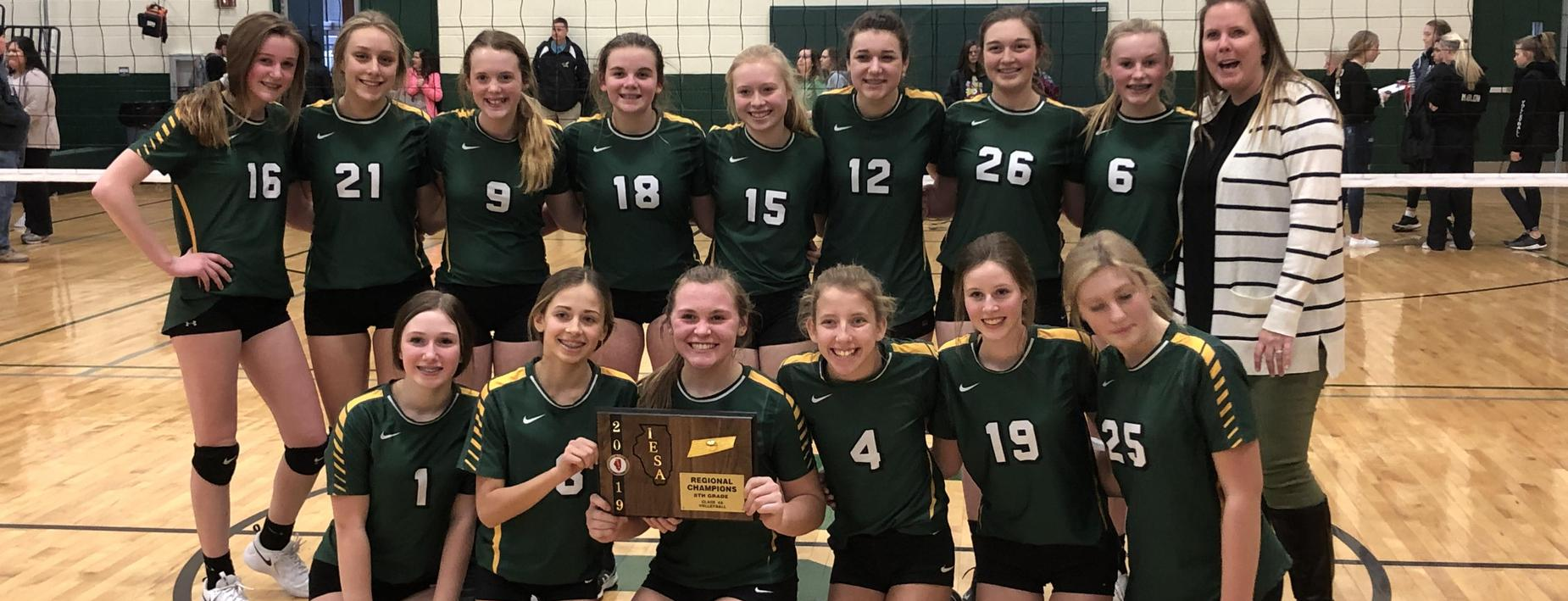 Sectional Champs in Volleyball