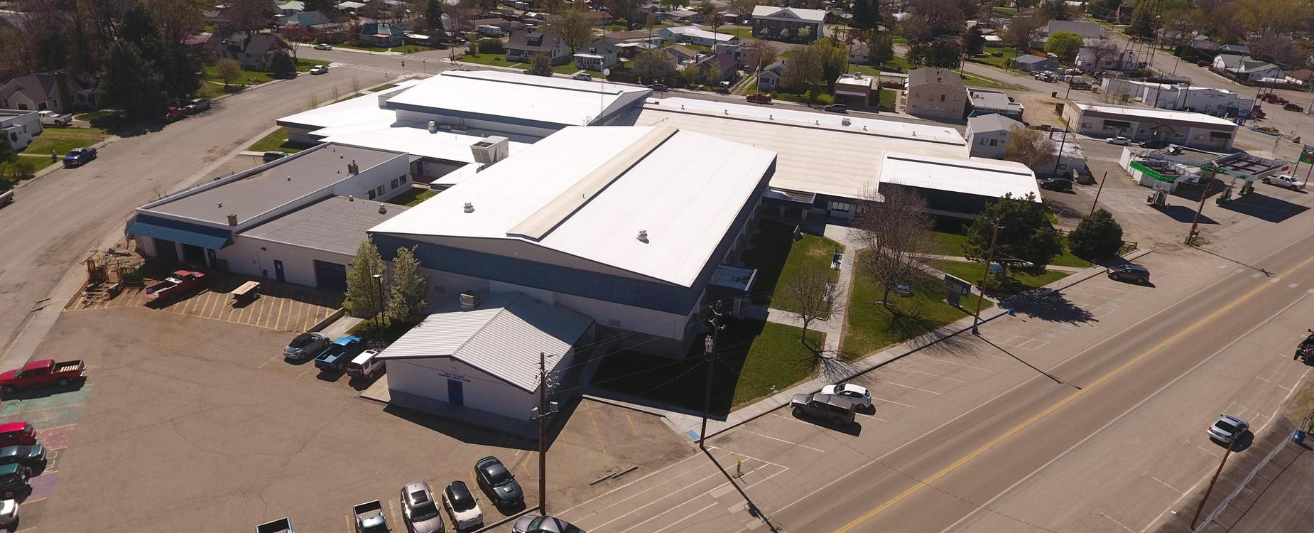New Plymouth High School aerial view rear