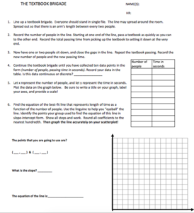 assignment handout with instructions