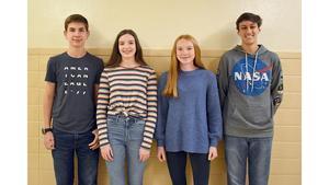 "Mars Area High School's ""Renaissance Students of the Month"" for October 2019 are junior Patrick Clark, sophomore Julia Kleber, freshman Piper Coffield, and senior Joshua Kalieda,"