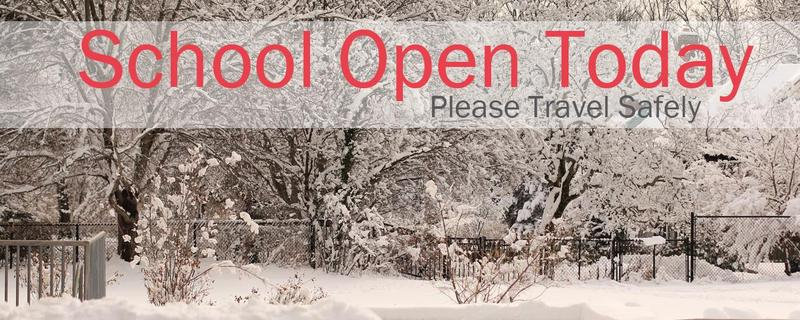 School Open on Time Today Featured Photo