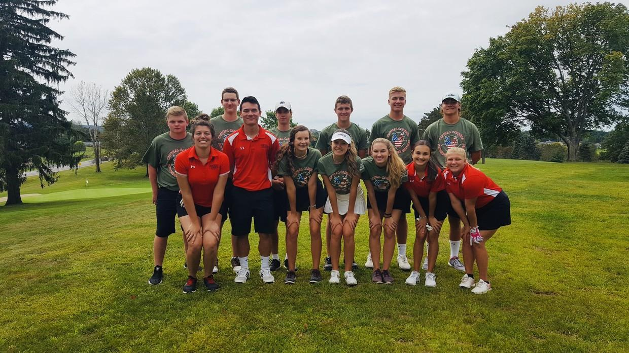 Golf team supports the Military