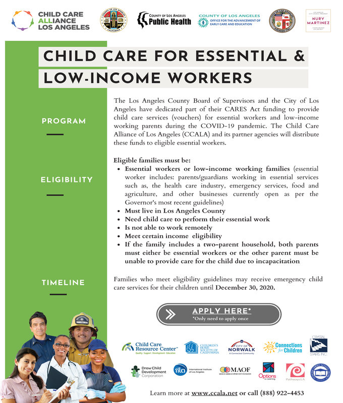 Child Care for Essential & Low-Income Workers Flyer Thumbnail