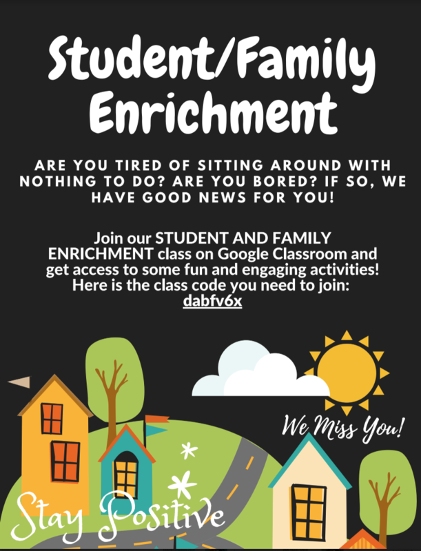 Student and Family Enrichment Activities