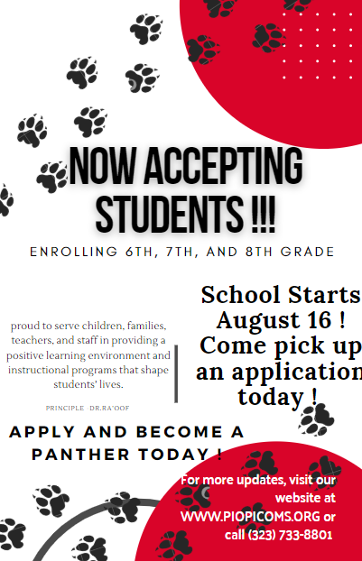Now Accepting Students Featured Photo