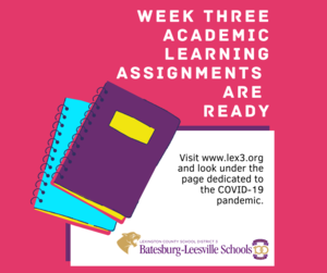 Academic Learning Plans Ready For Week Three