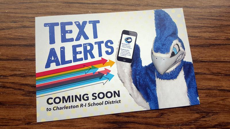 Front of the Text Alerts post card