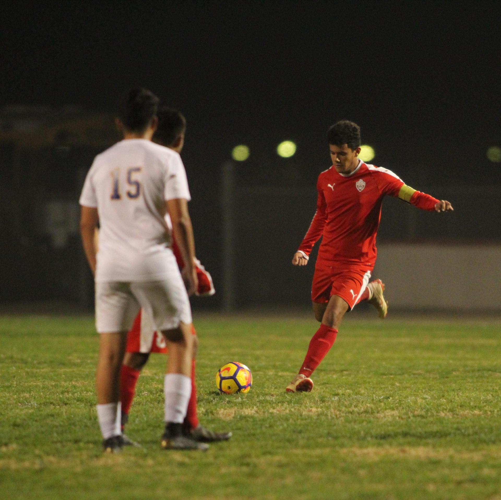 Antonio Ochoa Kicking the Ball