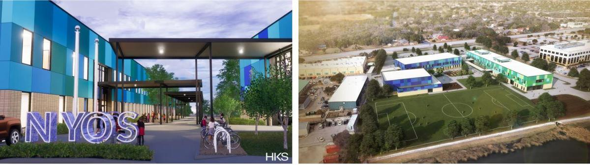 Renderings of new campus facility