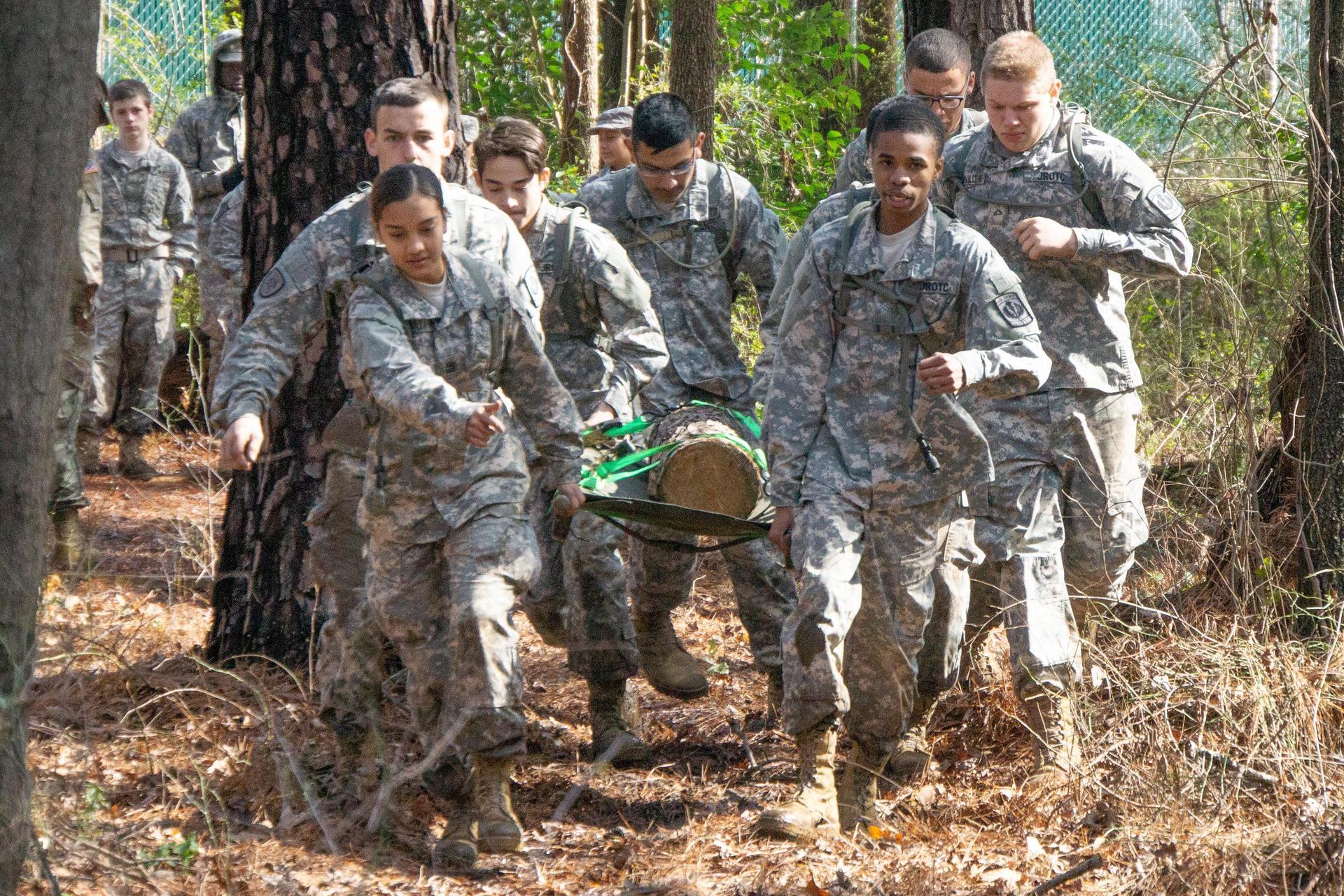 Bulldog JROTC Raider Team Litter Carry