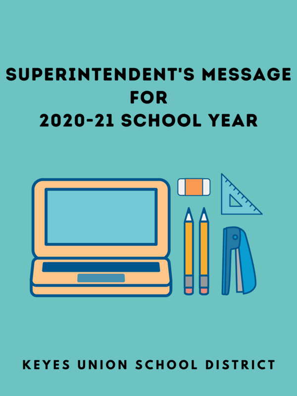 Superintendent Brasil's Message Regarding the 2020-21 School Year Featured Photo