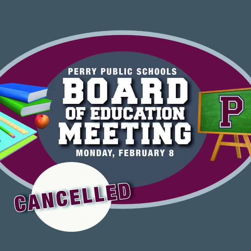 School board meeting cancelled