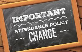 Attendance Policy Change