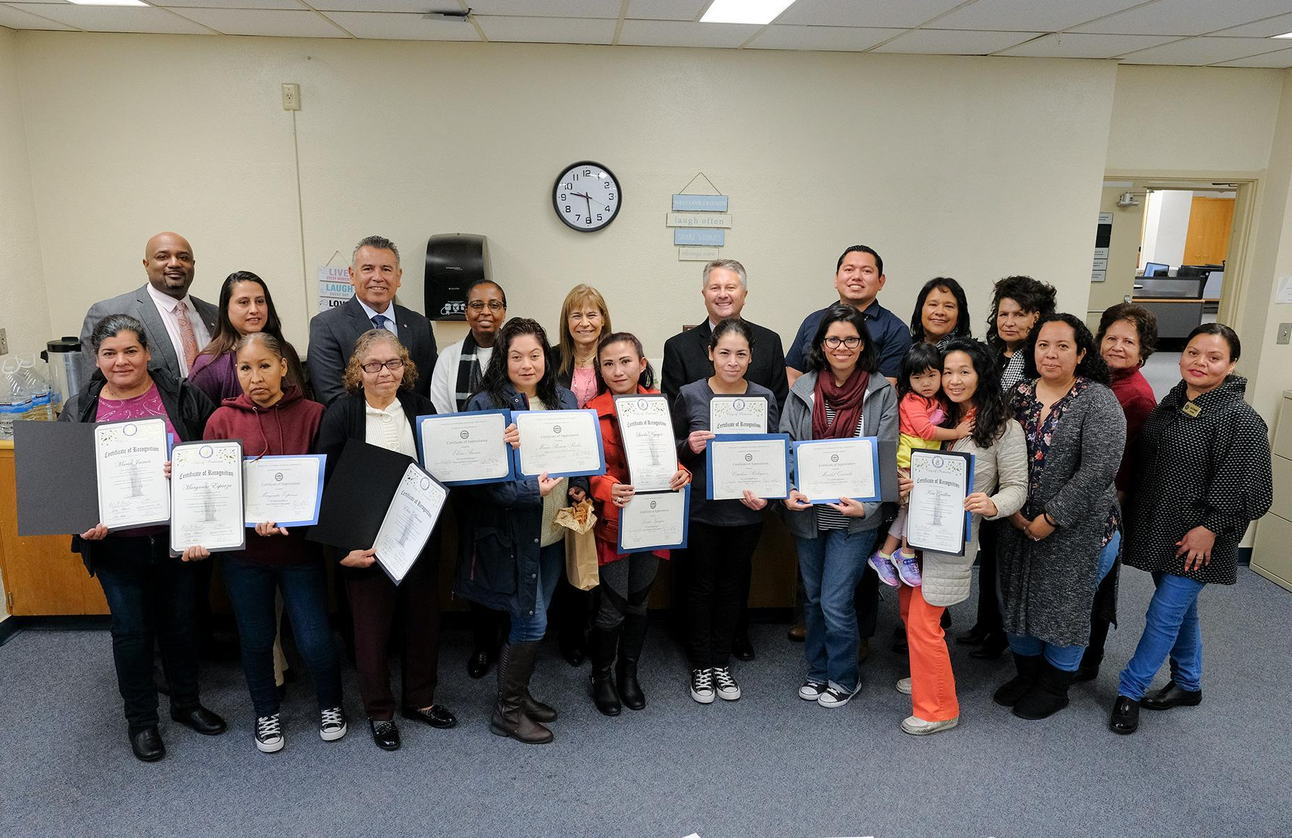Parent Leader Recognition Meeting Group Photo