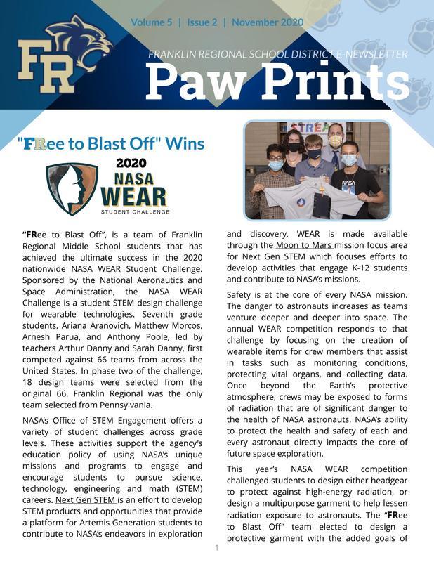 Paw Prints: November 2020