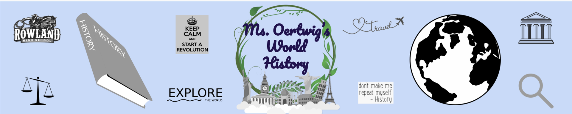 Google Classroom Banner for World History