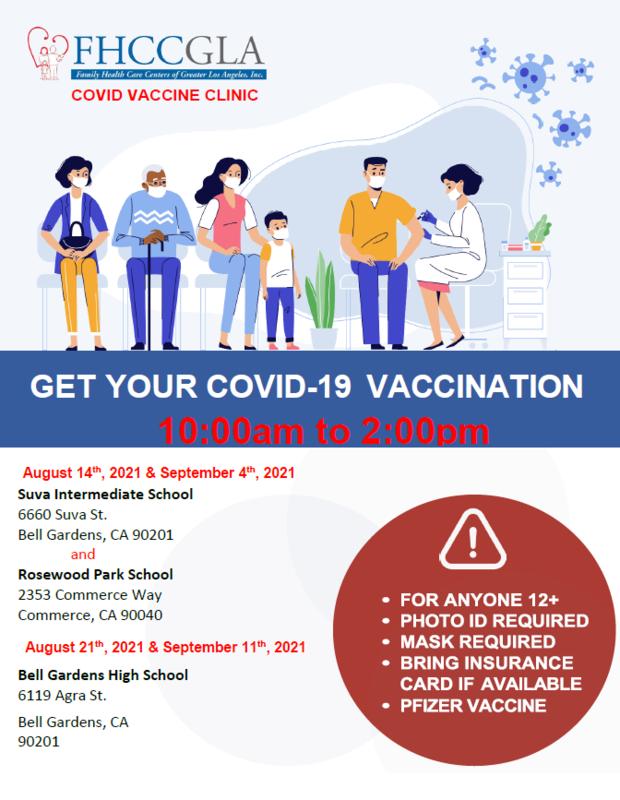 vax clinics 8/21 & 9/11