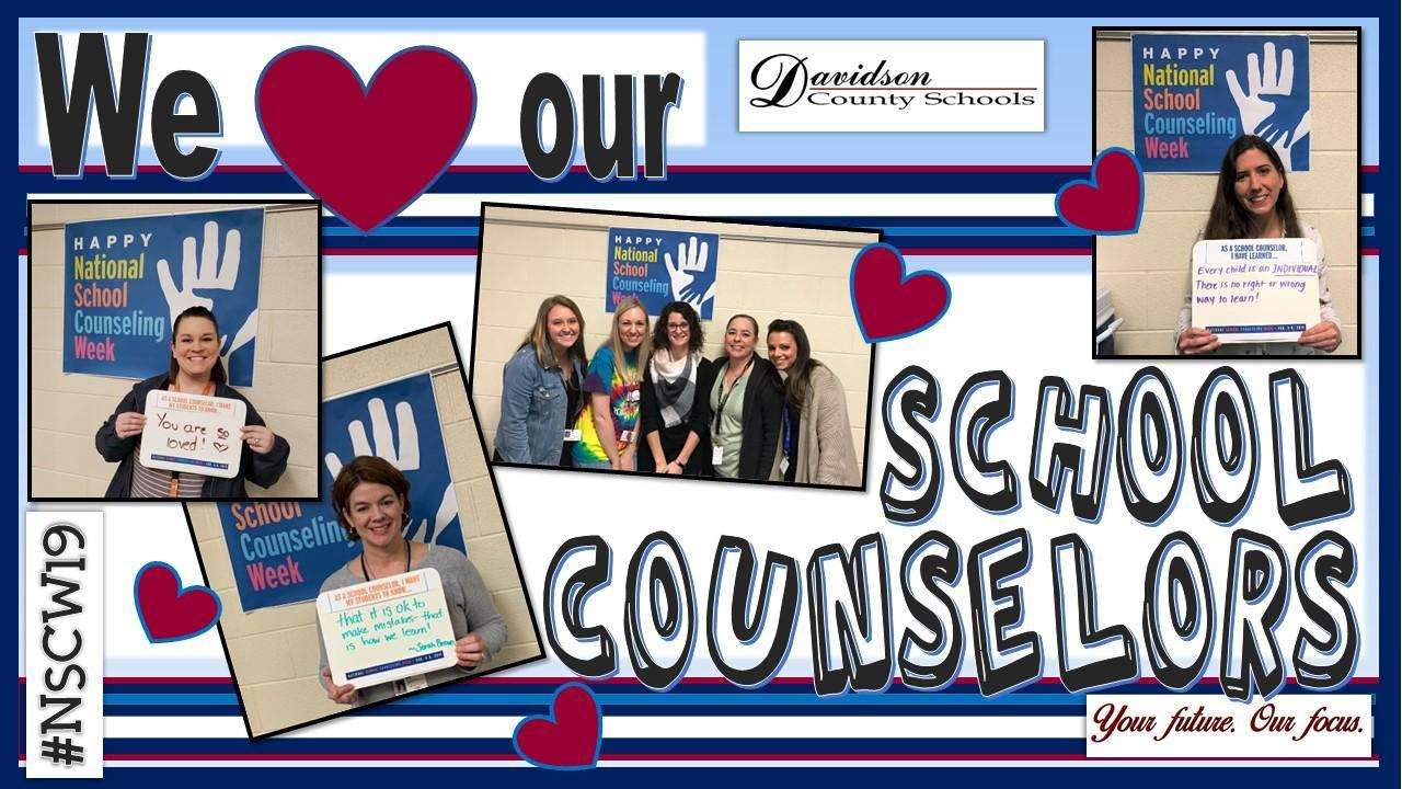 We love our school counselors.