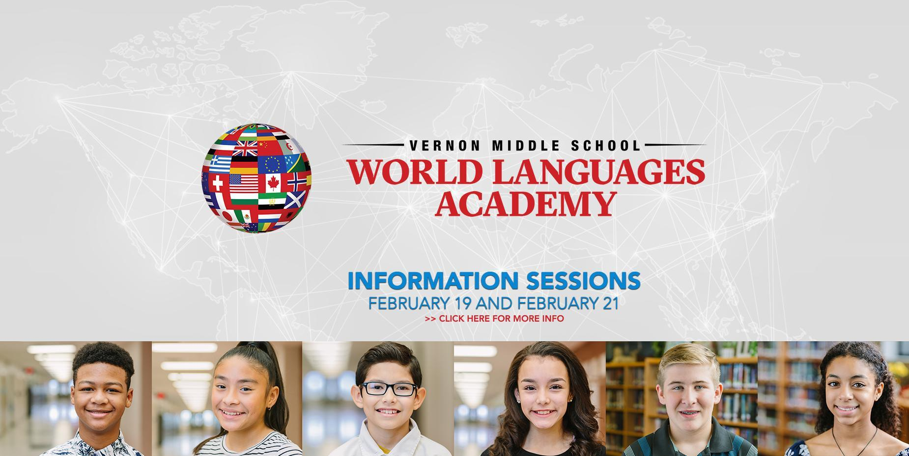 Vernon Middle School World Languages Academy Info Sessions