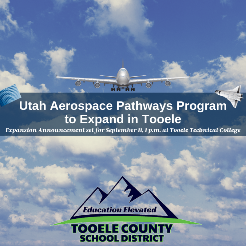 Utah Aerospace Pathways announcement September 11 at 1 p.m.